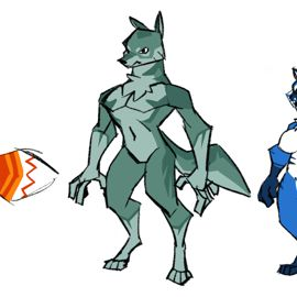 Some furry characters