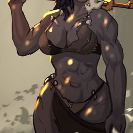Orc lady commission